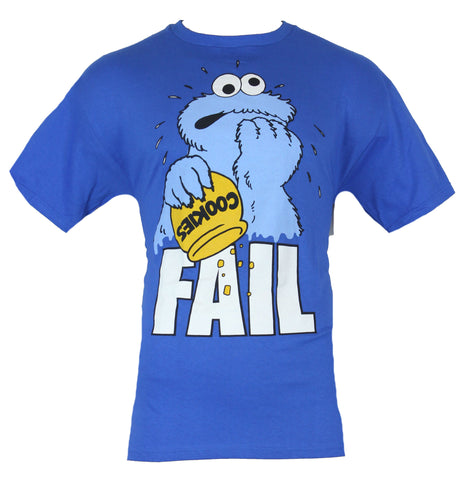 "Sesame Street Mens T-Shirt -  ""Fail"" Distraught Cookie Monster Out of Snacks - Inmyparentsbasement.com"