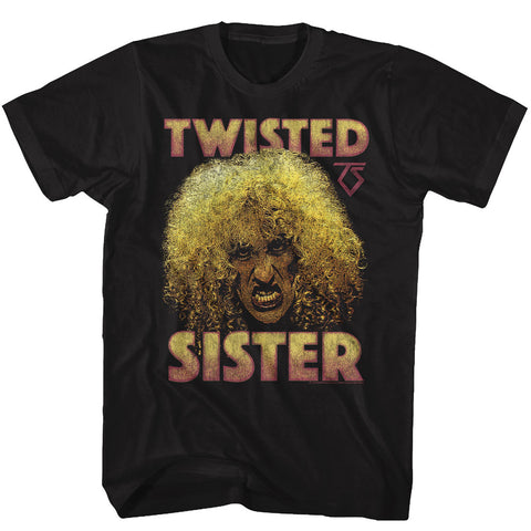 Twisted Sister Adult S/S T-Shirt - Dee - Solid Black
