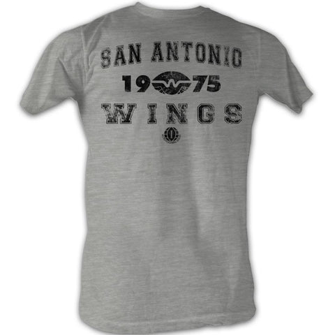 Wfl Adult S/S T-Shirt - Wings - Heather Gray Heather