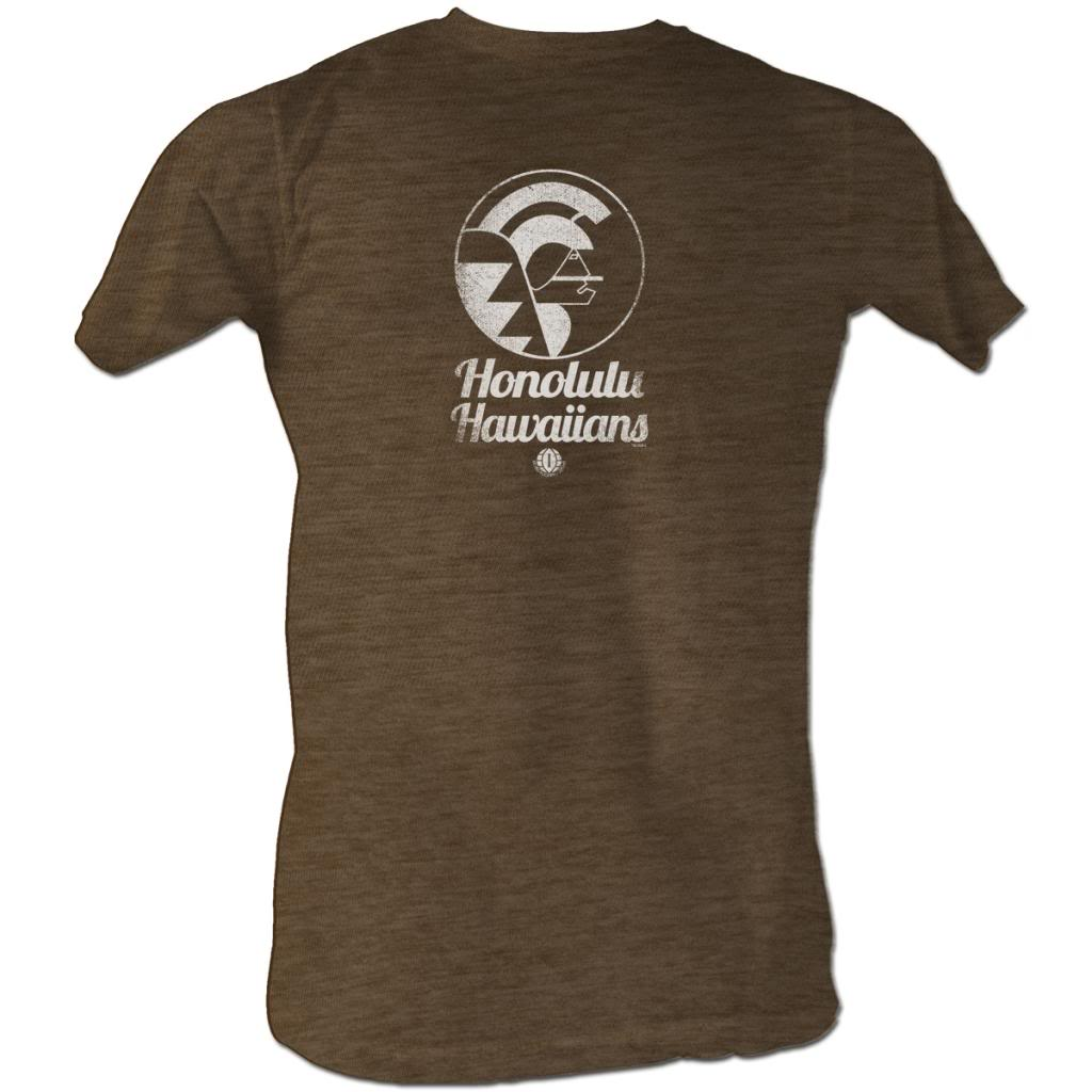 Wfl Mens S/S T-Shirt - Hawaiians White - Heather Mocha Heather