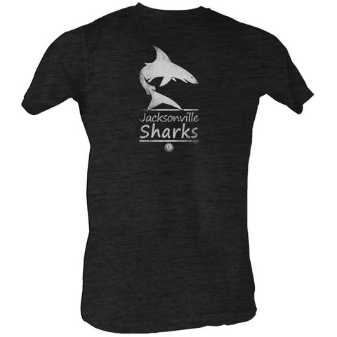 Wfl Adult S/S T-Shirt - Sharks White - Heather Black Heather