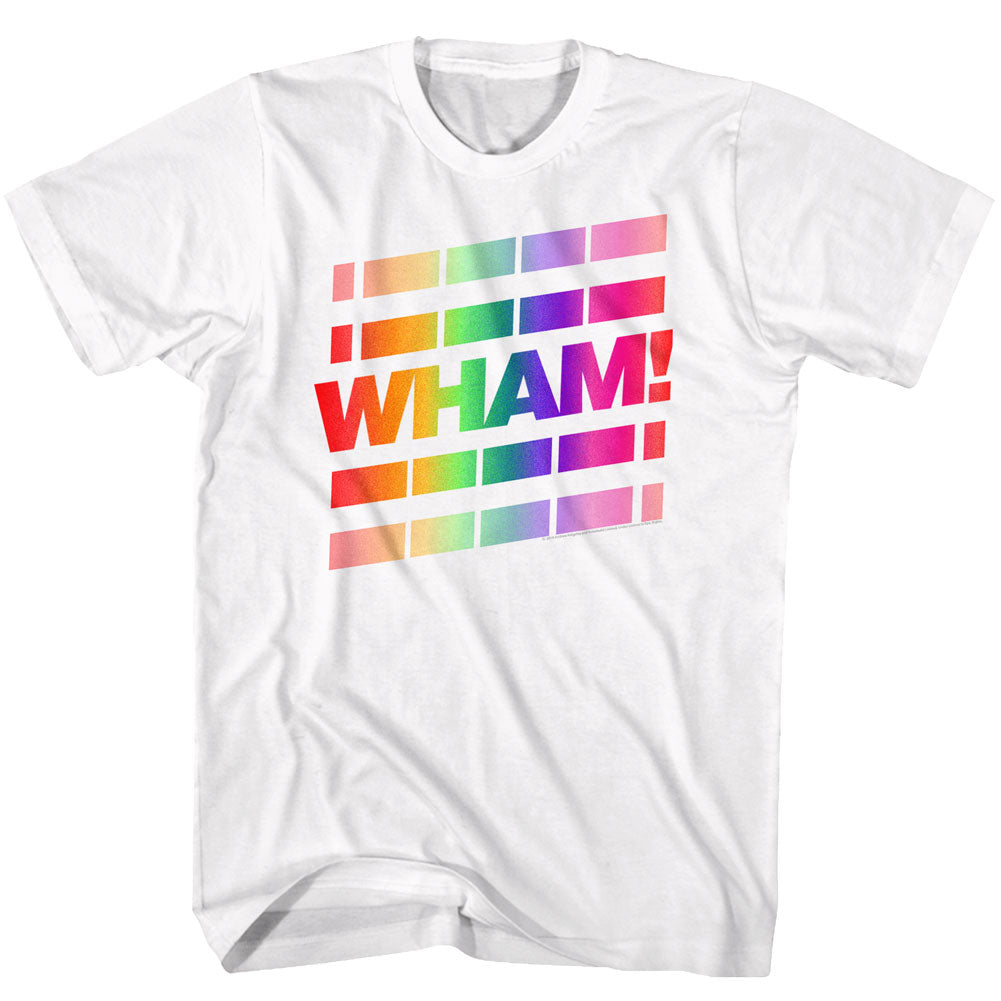 Wham Mens S/S T-Shirt - Whainbow - Solid White