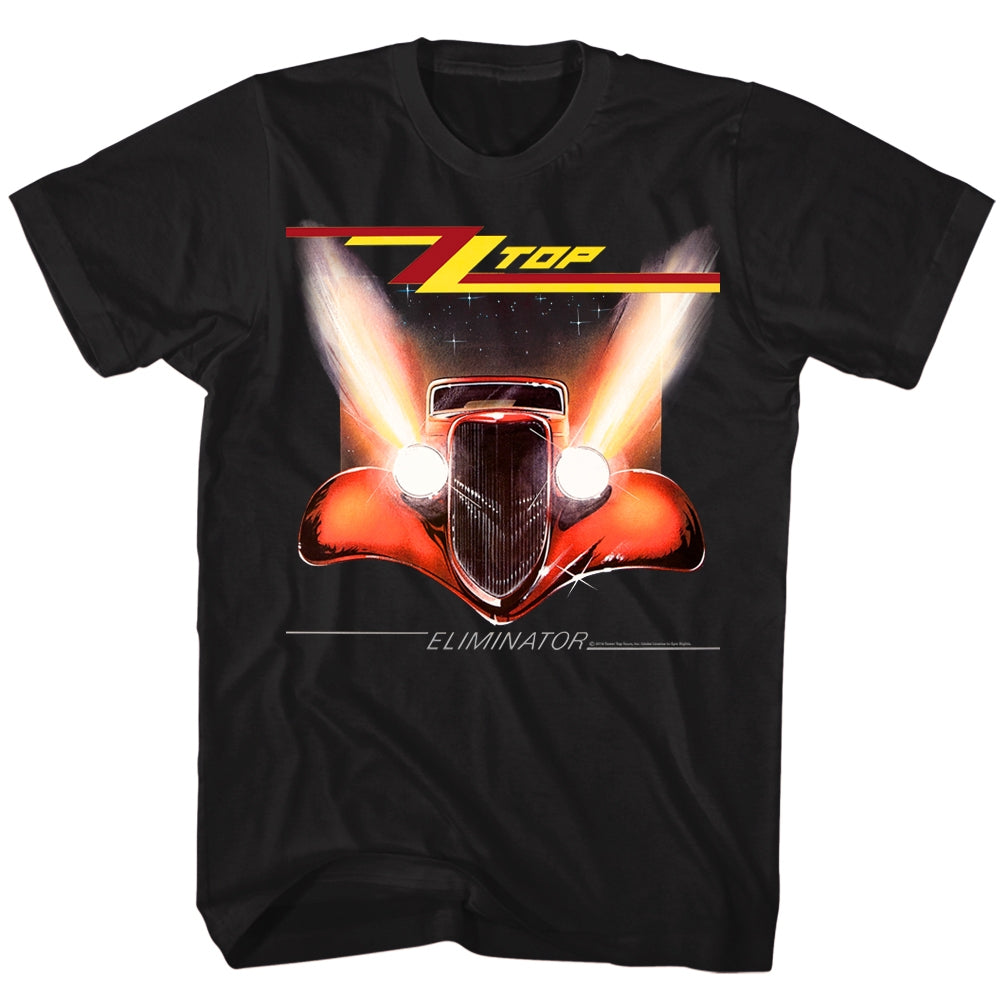 ZZ Top Mens S/S T-Shirt - Eliminator Cover - Solid Black