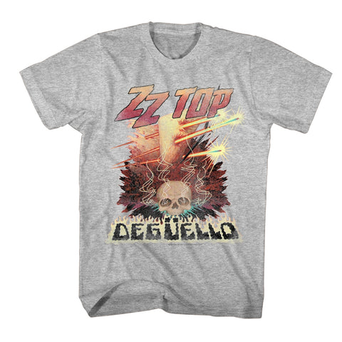 ZZ Top Adult S/S T-Shirt - Deguello - Heather Gray Heather