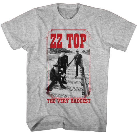 ZZ Top Adult S/S T-Shirt - Very Bad - Heather Gray Heather