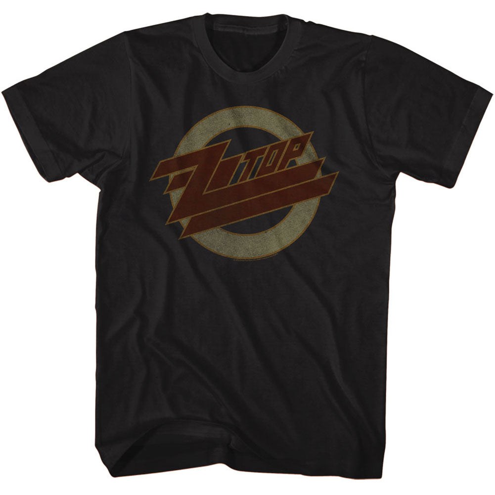 ZZ Top Mens S/S T-Shirt - Logofade - Solid Black