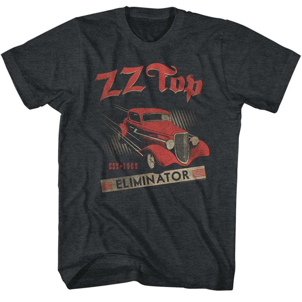 ZZ Top Mens S/S T-Shirt - Est 1969 - Heather Black Heather