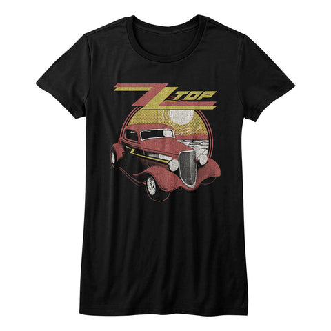 ZZ Top Juniors S/S T-Shirt - Eliminator - Solid Black