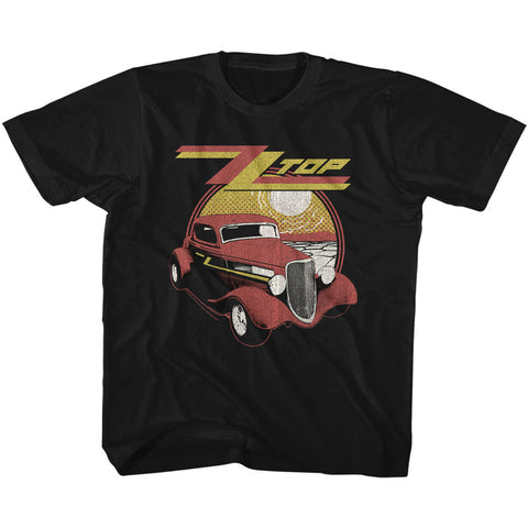 ZZ Top Youth S/S T-Shirt - Eliminator - Solid Black