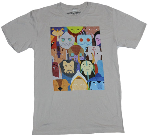 DOTA 2 Mens T-Shirt - Welcome to the Radiant Character Stylized Face Collage