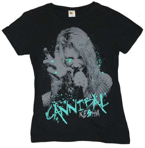 Keisha Girls Juniors T-Shirt - Cannibal Keisha Splattered Grabbing Image