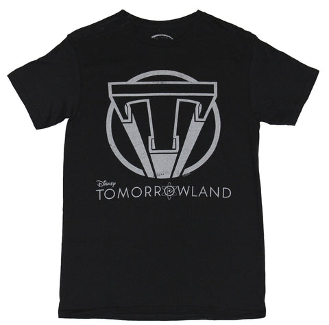 Tomorrowland Disney Mens T-Shirt - Distressed Big T Circle Logo Image