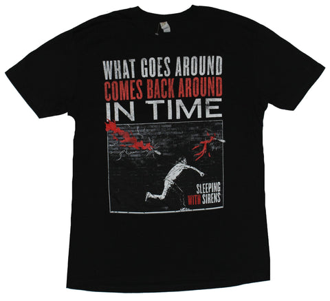Sleeping With Sirens Mens T-Shirt - What Goes Around Comes Back Image