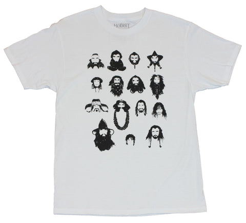 The Hobbit Mens T-Shirt - Characters Defined Only By Their Beards