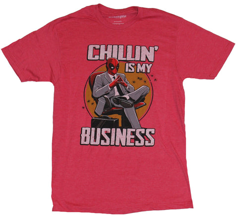 Deadpool (Marvel Comics) Mens T-Shirt - Chillin is My business Distressed