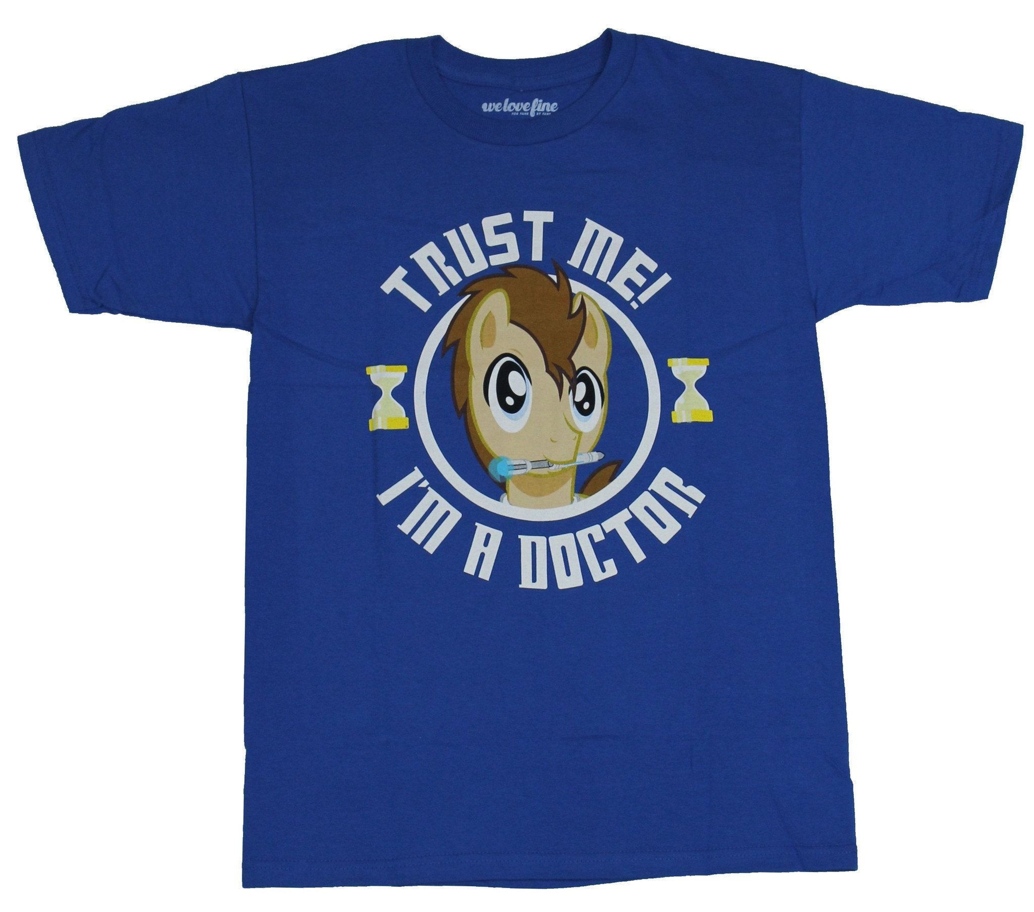 My Little Pony Mens T-Shirt  - Trust Me I'm A Doctor Whooves Circle Image