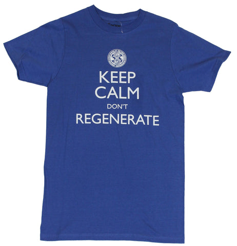 Doctor Who Mens T-Shirt  - Keep Calm and Regenerate Council of TimeLords Sta