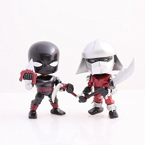 Teenage Mutant Ninja Turtles Metallic 2 Pack Shredder and Foot Ninja
