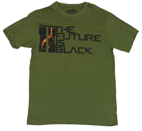 "Call of Duty Black Ops II Mens T-Shirt - ""The Future is Black"" Word  Logo"