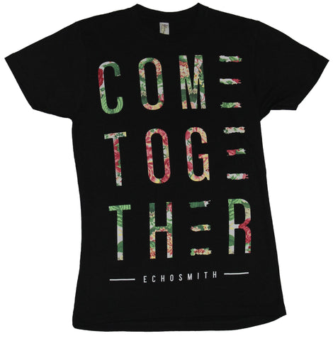 Echosmith Mens T-Shirt - Come Together Floral Word Image