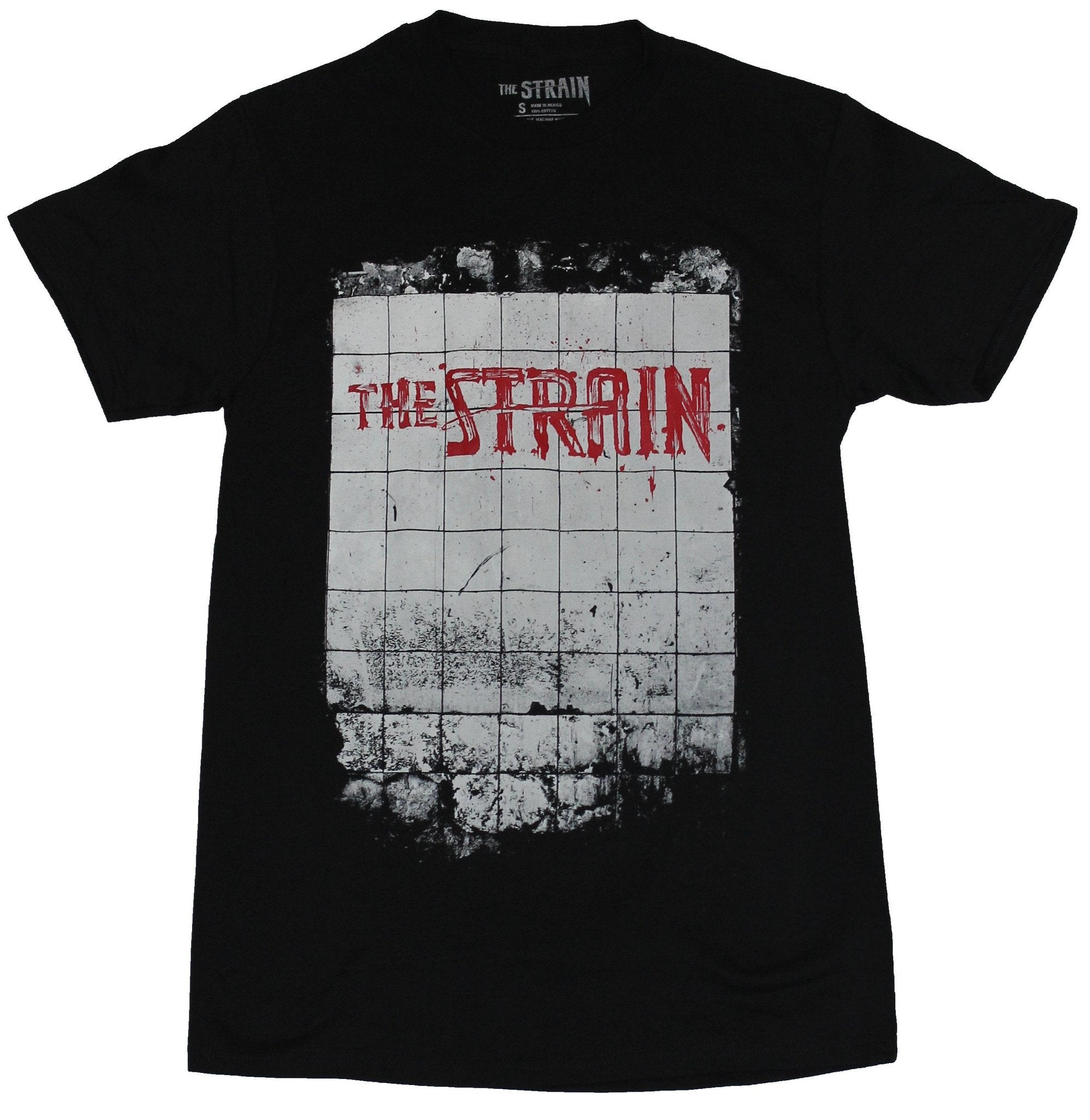 The Strain Mens T-Shirt - Bloody Bathroom Tile Logo Image