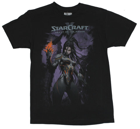 Starcraft II Mens T-Shirt - Heart of the Swarm Pretty Alien Girl Image
