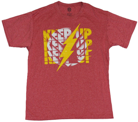 Flash (DC Comics) Moisture Wicking Mens T-Shirt - Keep Up Keep Up Logo