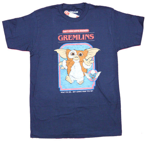 Gremlins Mens T-Shirt - Don't Feed After Midnight Story Book Style Gizmo