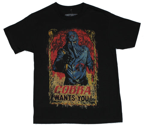 G.I. Joe Mens T-Shirt  - Cobra Wants You Distressed Slim Fit GI Joe [Apparel]