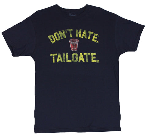 "Crude Attitude Mens T-Shirt -  ""Don?t Hate Tailgate Tail Gate"""