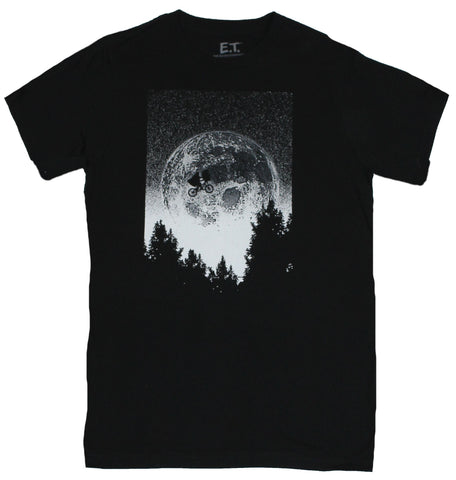 ET the Extra Terrestrial Mens T-Shirt - Bike Flying In Front of the Moon Image