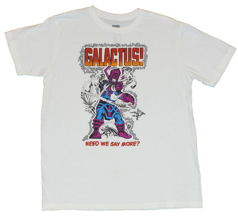 "Galactus (Marvel Comics) Mens T-shirt - ""Need We Say More?"" Hero Battle Image"