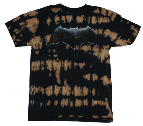 Batman (Dc Comics) Mens T-Shirt - Movie Style Logo On Marbled Design