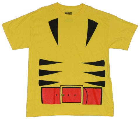 Wolverine (Marvel Comics) Mens T-Shirt -  First Appearance Yellow Costume Front