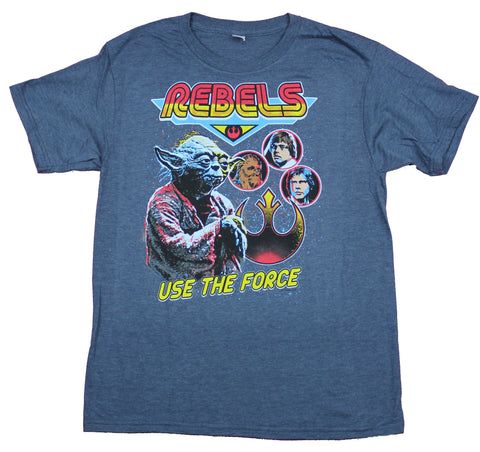 Star Wars Mens T-Shirt  - Rebels Stylized Use The Force