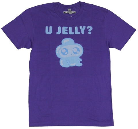 Bravest Warriors Mens T-Shirt - U Jelly? Seated Jelly Kid Image
