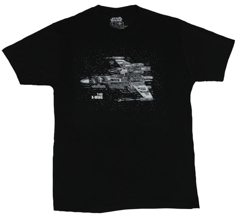 Star Wars Mens T-shirt - X-Wing T-65  Blown out Schematics Image