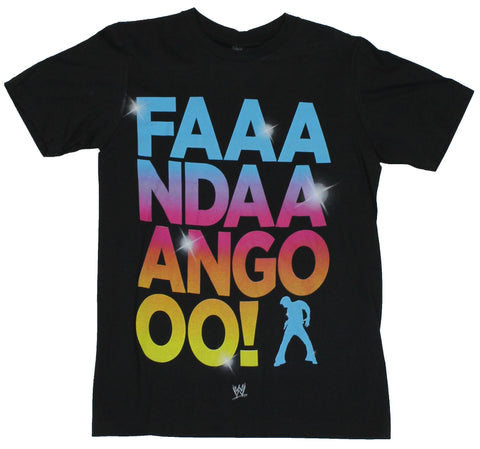 WWE Mens T-Shirt -  FAAANDAAANGO! Fandango Colorful Logo