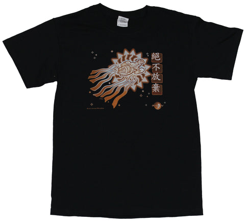 Firefly Serenity Mens T-Shirt - Serenity Ship Stlzed with Chinese Characters