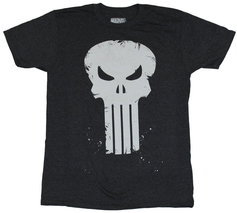 The Punisher (Marvel Comics)  Mens T-Shirt - Long Toothed Slightly Splattered
