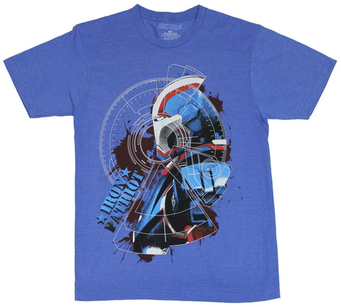 Iron Man 3 (Marvel Comis) Mens T-Shirt - Super Patriot Targeted Portrait