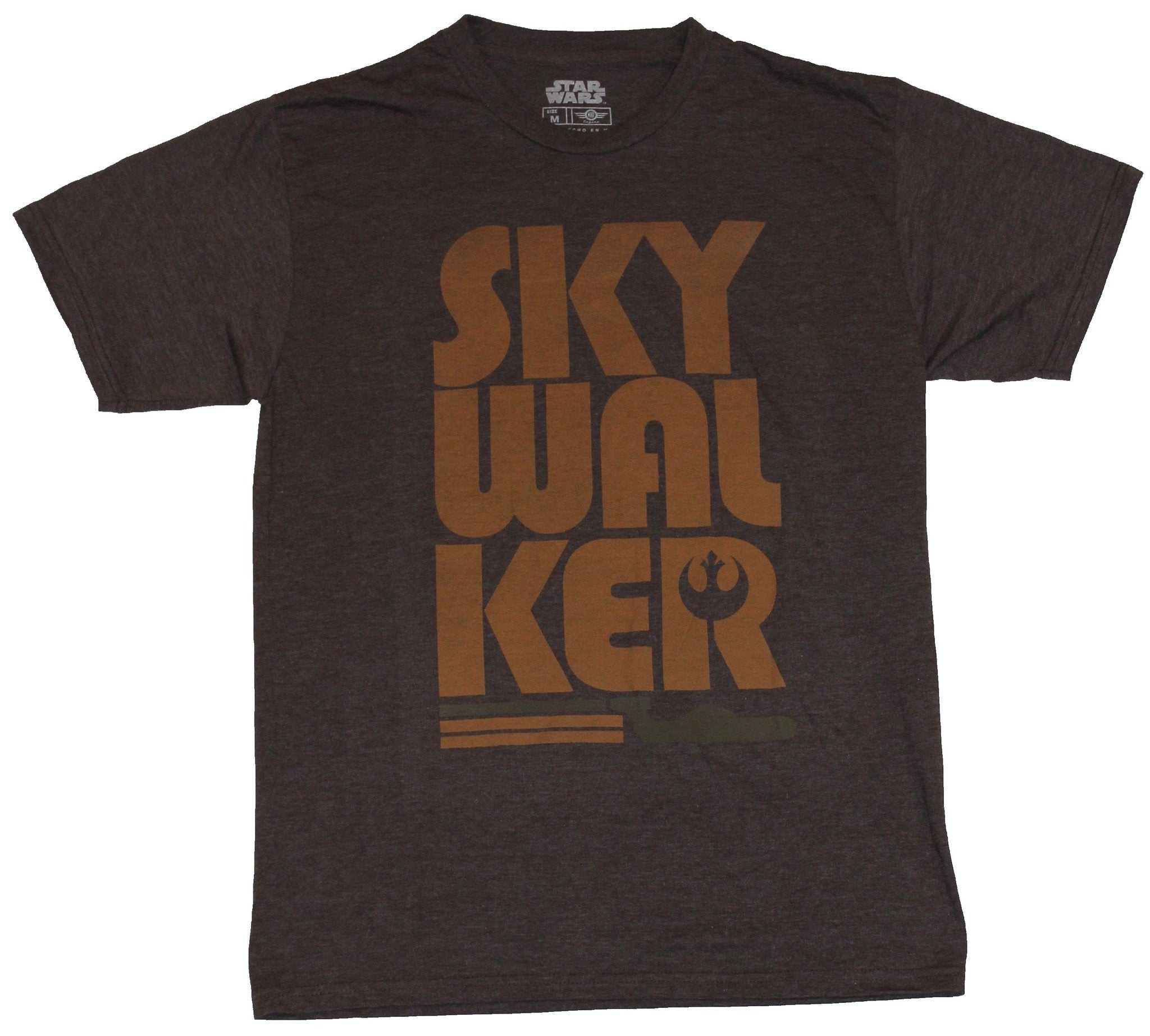 Star Wars Mens T-Shirt - Skywalker Big Letter Landspeeder Logo Image