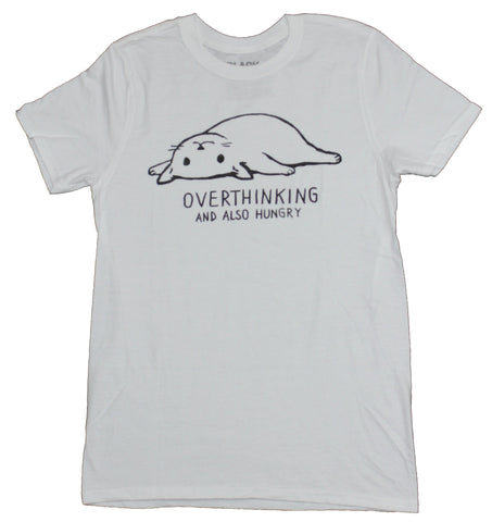 Black Matter Mens T-Shirt - Overthinking and Also Hungry Fox Image