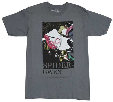 Spider-Gwen (Marvel Comics)  Mens T-Shirt - Boxed White Tinted Artistic Gwen
