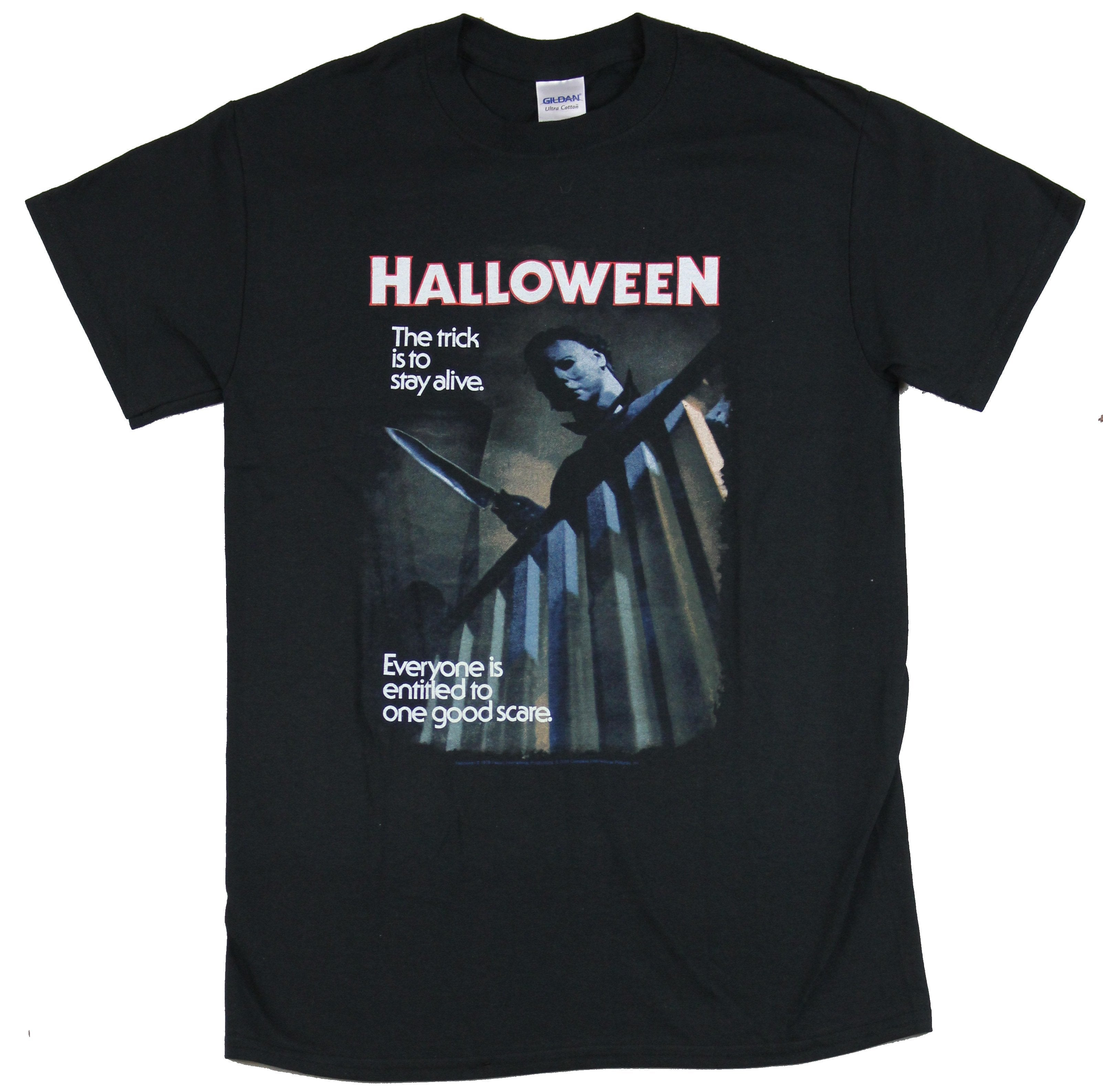 Halloween Mens T-Shirt - Trick Is to Stay Alive Poster
