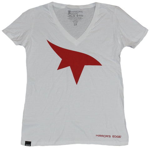 Mirror's Edge Girls Juniors T-Shirt - Red Eye Mark Logo Image