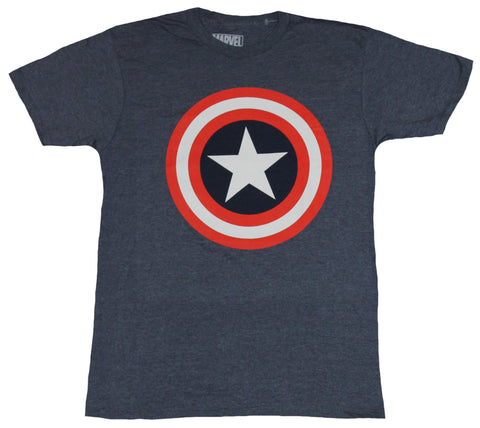 Captain America (Marvel Comics) Mens T-Shirt - Unblemished Red White Blue Logo