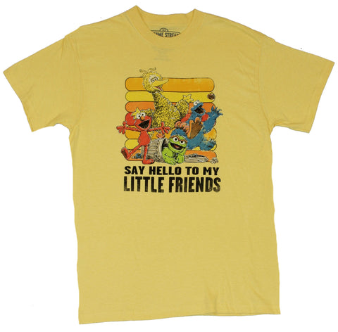 "Sesame Street Mens T-Shirt - ""Say Hello To My Little Friends"" Cast Image"