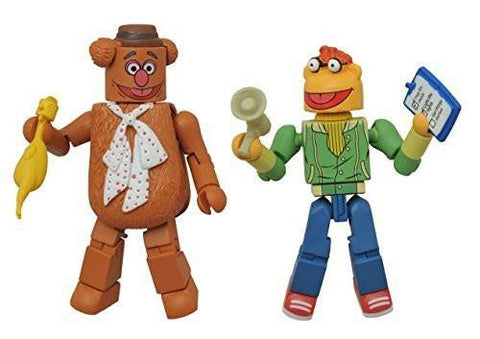 Minimates 2-Pack- The Muppets- Fozzie Bear & Scooter