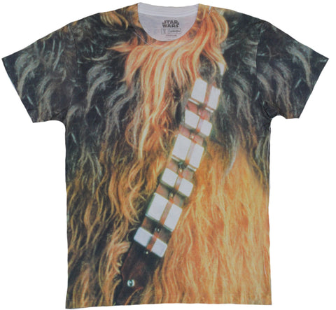 Star Wars Mens T-Shirt - Chewbacca Sublimation Style All Over costume Image